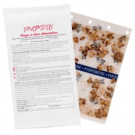 Subito - Piège à Mites alimentaires plaquette de phéromone femelle Pochette et Plaquette | Insecticide Antinuisible