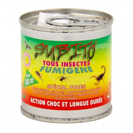 Subito - Fumigène contre tous les insectes volants et rampants - 100m3 | Insecticide Antinuisible