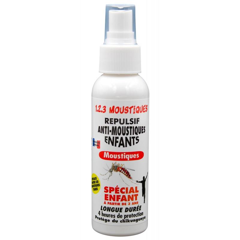 Répulsif anti-moustiques corporel spécial enfants 100 ml - 1.2.3 Moustiques | Insecticide Antinuisible Qualité Pro