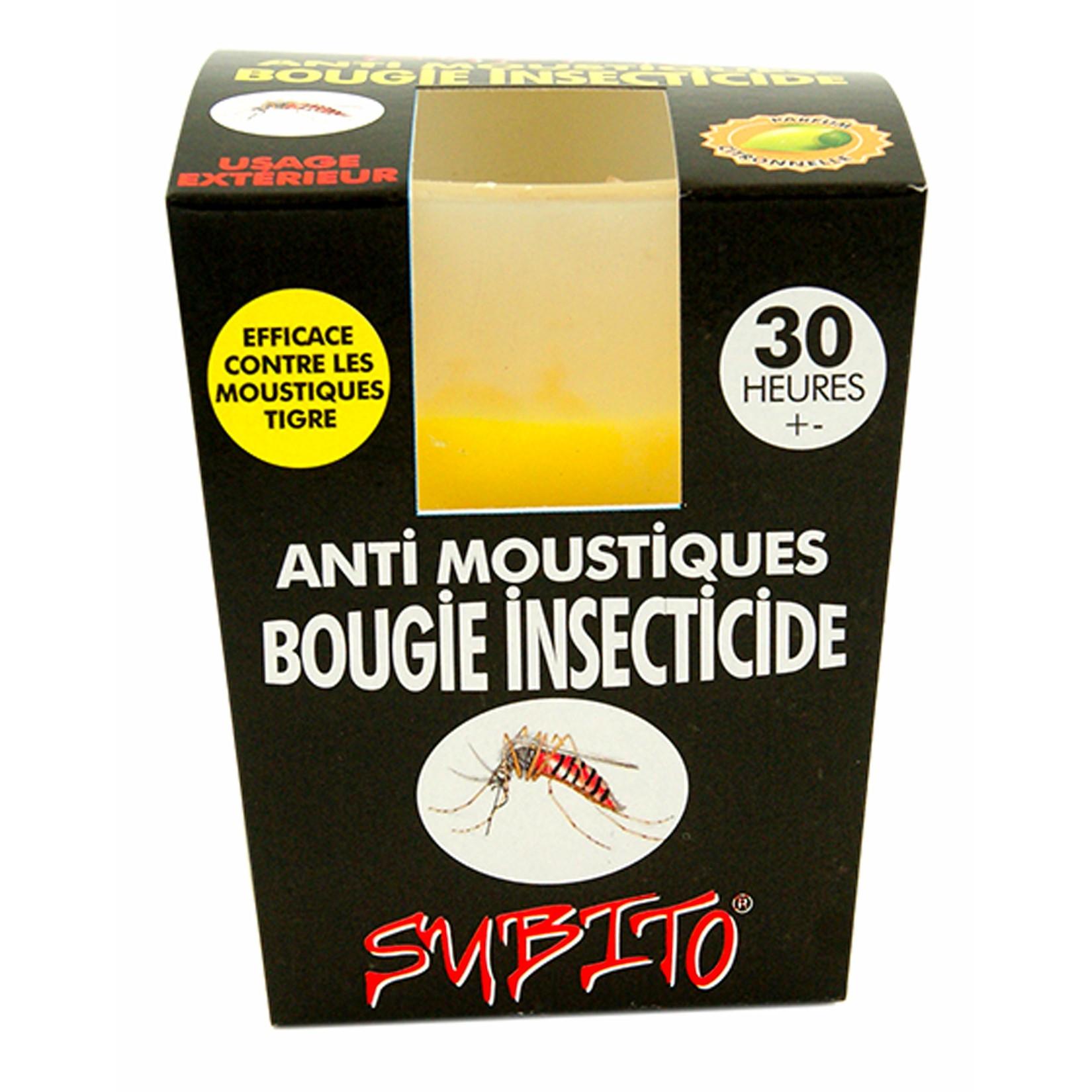 Bougie insecticide anti-moustiques pour extérieur 30 heures de Subito | Insecticide Antinuisible Qualité Professionnelle
