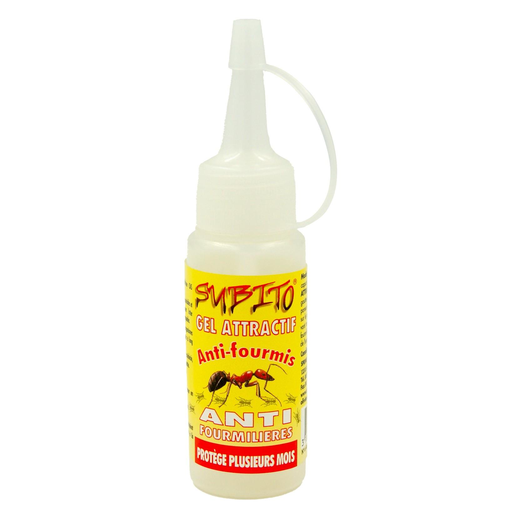 Gel attractif insecticide anti-fourmis et anti-fourmilières 65g Subito   Insecticide Antinuisible Qualité Professionnelle