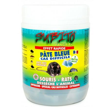 Pâte bleue Fanga B+ anti-rats et anti-souris cas difficile 150g Subito | Insecticide Antinuisible Qualité Professionnelle