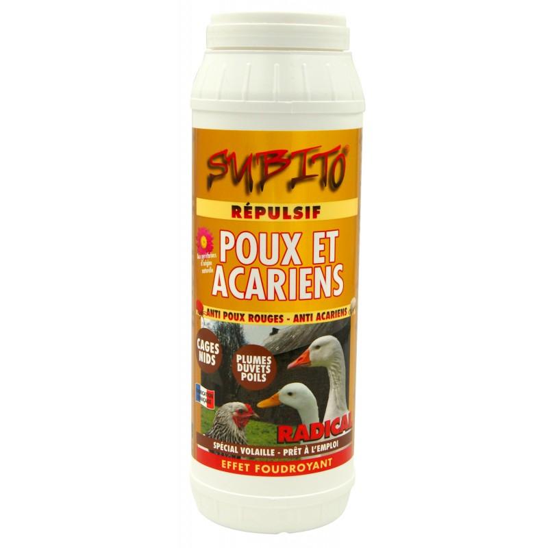 Répulsif anti-poux et anti-acariens spécial volaille 500 g de Subito | Insecticide Antinuisible Qualité Professionnelle