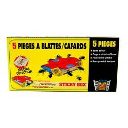 Sticky Box pièges Blattes et Cafards avec attractif alimentaire Subito | Insecticide Antinuisible Qualité Professionnelle