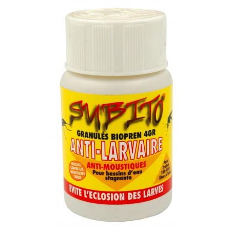 Granulés anti-larvaires contre les moustiques et les mouches 50g Subito | Insecticide Antinuisible Qualité Professionnelle