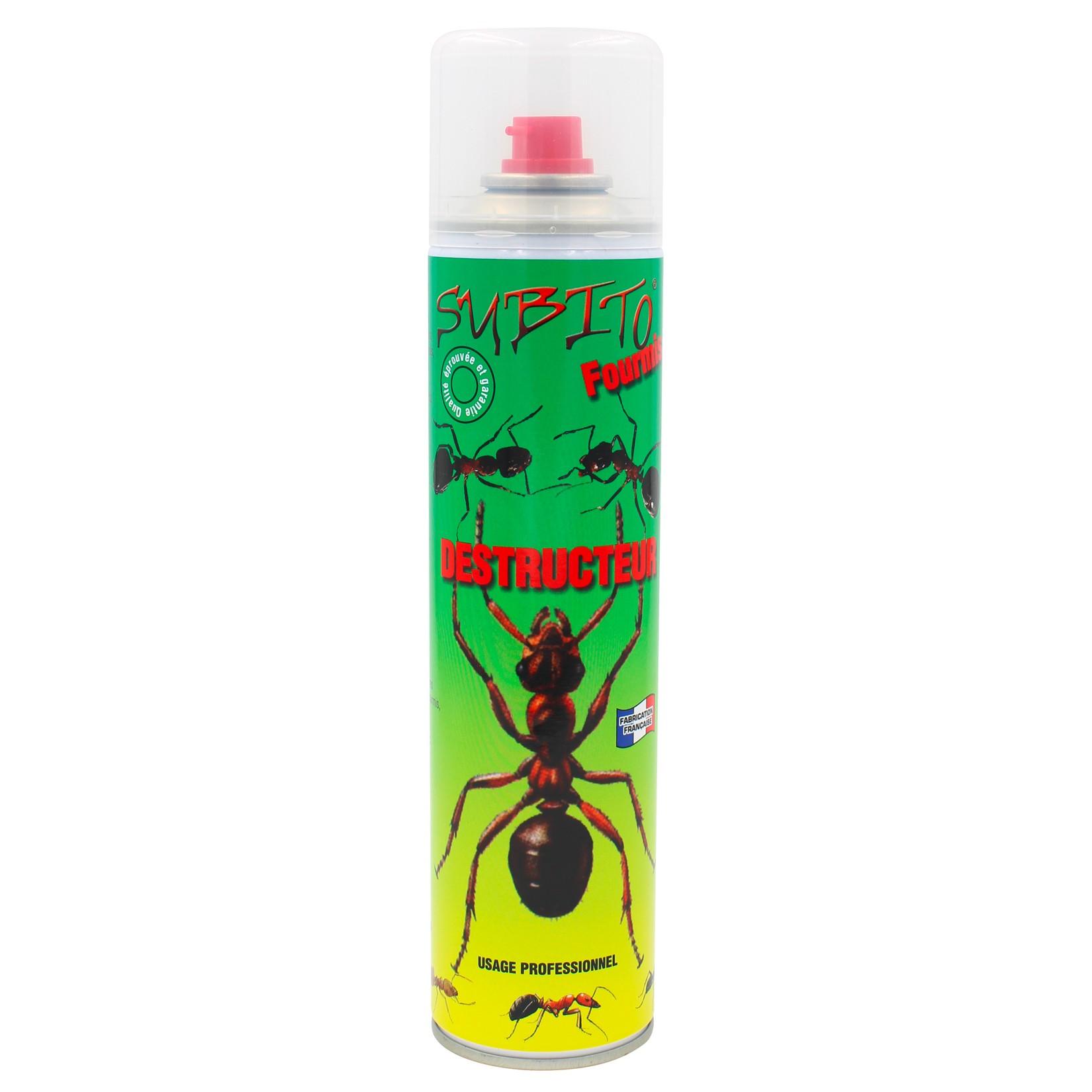 Aérosol insecticide destructeur spécial anti-fourmis 400 ml de Subito | Insecticide Antinuisible Qualité Professionnelle