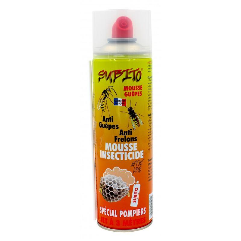Aérosol mousse anti-guêpes et anti-frelons spécial pompiers jet 3m Subito | Insecticide Antinuisible Qualité Professionnelle