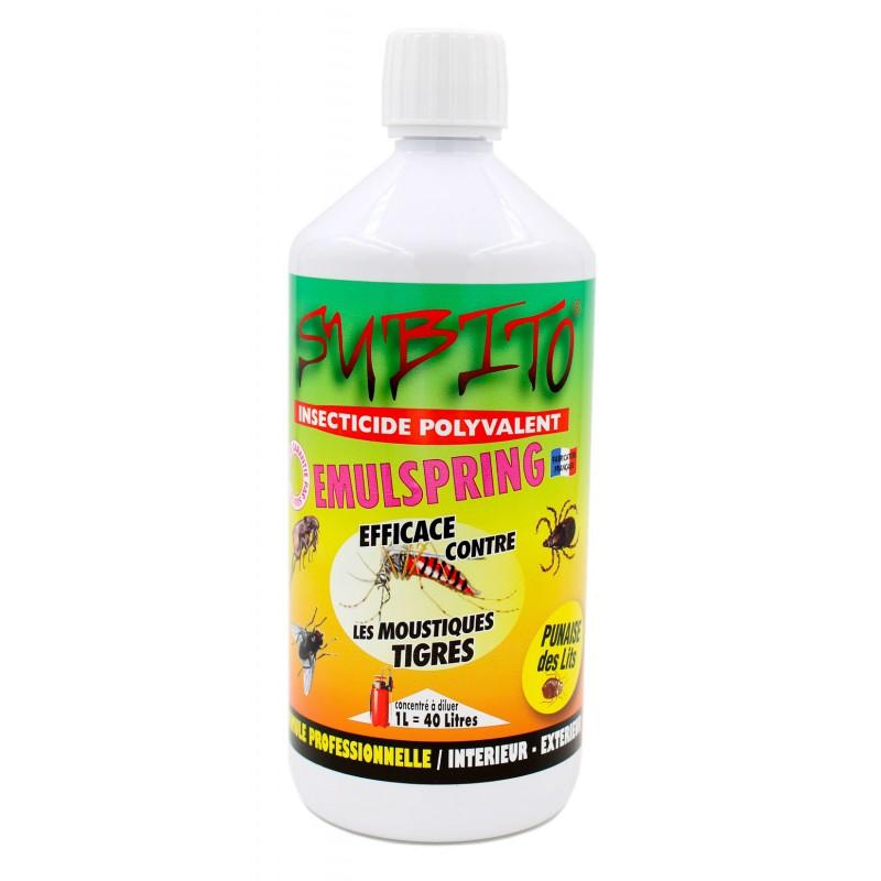 Emulspring concentré insecticide polyvalent intérieur extérieur 1L Subito | Insecticide Antinuisible Qualité Professionnelle