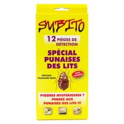 Spécial Punaises des lits 12 pièges de détection non toxique de Subito | Insecticide Antinuisible Qualité Professionnelle
