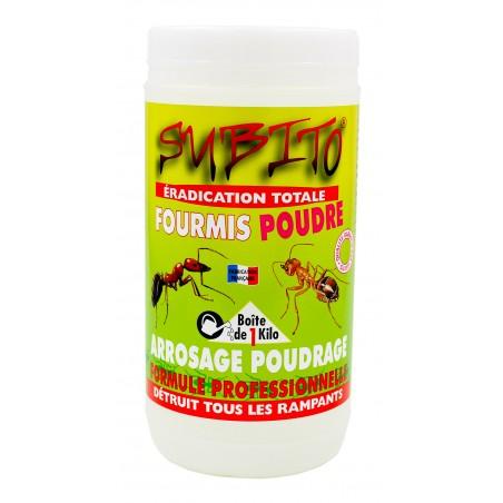 Eradication totale fourmis poudre détruit tous les rampants 1kg Subito | Insecticide Antinuisible Qualité Professionnelle
