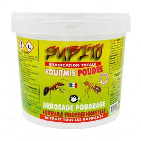 Eradication totale fourmis poudre détruit tous les rampants 5kg Subito | Insecticide Antinuisible Qualité Professionnelle
