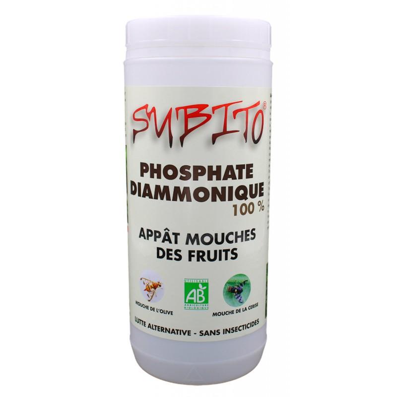 Phosphate Diammonique 100% appât mouches des fruits 1.5 kg de Subito   Insecticide Antinuisible Qualité Professionnelle
