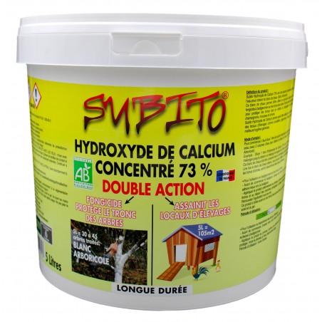 Hydroxyde de calcium concentré à 73% double action longue durée 5L Subito | Insecticide Antinuisible Qualité Professionnelle