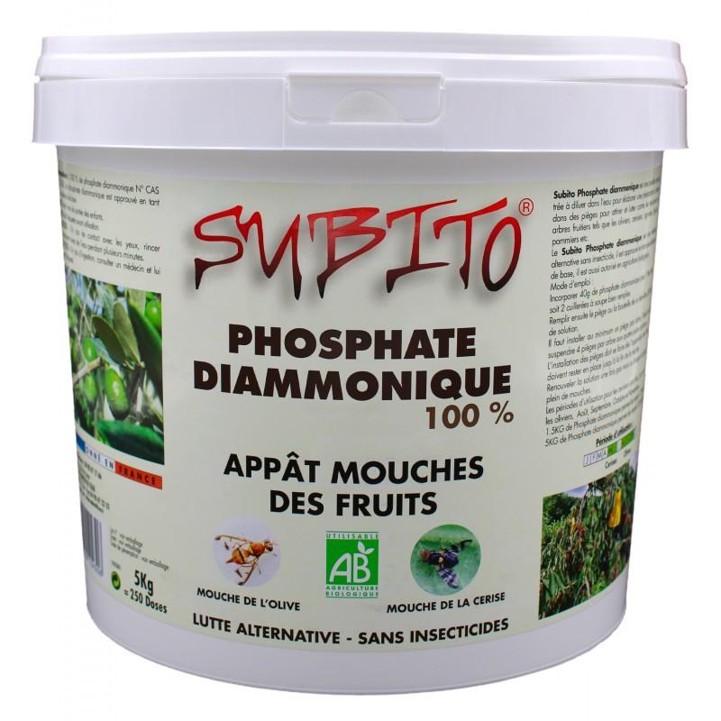 Phosphate Diammonique 100% Appât Mouches des Fruits Biologique 5kg Subito| Insecticide Antinuisible Qualité Professionnelle