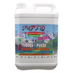 Bacto S désinsectisant et désinfectant anti-tiques et anti-puces 5L Subito | Insecticide Antinuisible Qualité Professionnelle