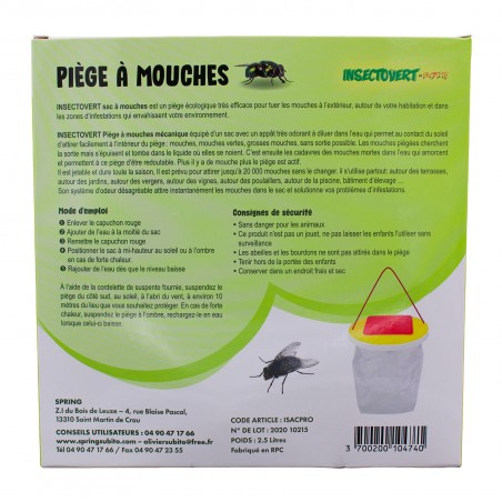 Insectovert Subito Piège à mouches forte attraction par l'odeur