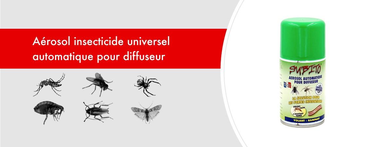 Aérosol insecticide universel automatique pour diffuseur 250 ml de Subito