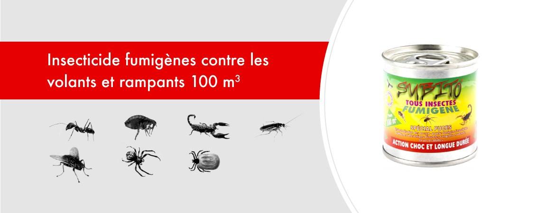 Insecticide fumigènes contre les volants et rampants 100 m3 de Subito